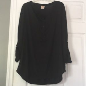 Faded Glory Black Shirt with Buttons